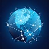 世界地球航海传染媒介 免版税图库摄影
