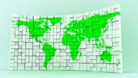 世界块地图盘区 库存照片