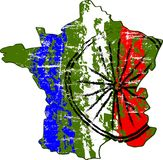 世界多数著名周期种族在法国 免版税库存照片