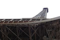 世界多数著名地标埃佛尔铁塔在日出期间的巴黎法国图片的没有人民 免版税库存照片