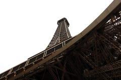 世界多数著名地标埃佛尔铁塔在日出期间的巴黎法国图片的没有人民 库存图片