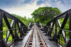 世界大战历史铁路金属桥梁,河Kwai,泰国 库存图片