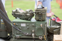 世界大战在吉普的阵营收音机 库存图片
