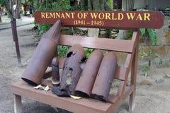 世界大战燃尽的药筒 库存图片