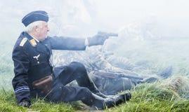 世界大战2争斗的再制定 Blyth,诺森伯兰角, 5月16日 2015年 免版税库存照片