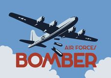 世界大战2轰炸机 r 皇族释放例证