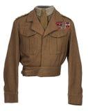 世界大战2骑兵官员的制服WW11 免版税图库摄影
