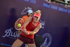 世界女性网球员安赫利奎・克柏 免版税图库摄影