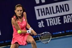 世界女性网球员Aginieszka Radwanska 免版税库存照片