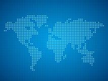 世界小点地图例证 库存图片