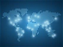 世界小点地图例证 图库摄影