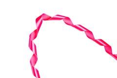 世界巨蟹星座天红色丝带 免版税库存照片