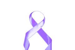 世界巨蟹星座天紫色丝带 免版税库存图片