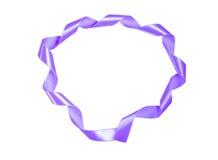 世界巨蟹星座天紫色丝带 免版税图库摄影