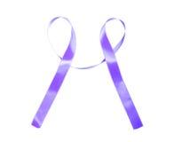 世界巨蟹星座天紫色丝带 免版税库存照片