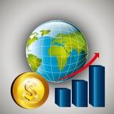 世界市场和证券交易所 免版税图库摄影