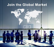 世界市场商务商业消费者概念 免版税库存照片