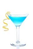 世界性蓝色的鸡尾酒 库存照片