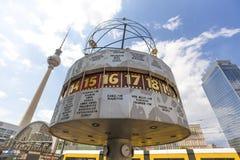 世界手表alexanderplatz柏林德国 库存图片