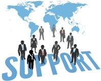 世界支持服务商人 库存例证