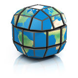 世界政治,全球化3d例证 库存图片