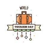 世界旅游日 也corel凹道例证向量 免版税库存图片