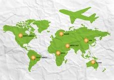 世界旅行地图 库存照片