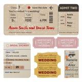 世界旅行者卖票汇集 向量例证