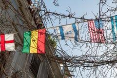 世界旗子在一个晴天 图库摄影