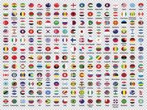 世界旗子汇集环绕了旗子 库存例证