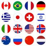 世界旗子-世界的国旗 库存例证