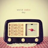 世界无线电日 库存图片