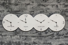 世界时钟 免版税库存照片
