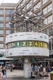 世界时钟Alexanderplatz柏林 免版税库存图片