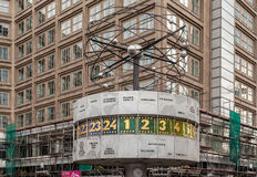 世界时钟Alexanderplatz柏林 免版税库存照片