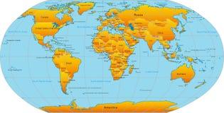 世界映射  向量例证