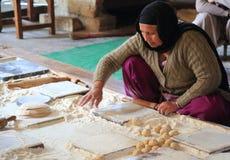 世界最大的自由厨房Harmandir Sahib (金黄寺庙) 库存照片