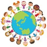 世界朋友和地球 免版税库存照片