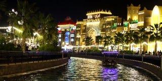 世界村迪拜美丽的运河  库存图片