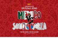 世界杯俄罗斯2018年Grup f墨西哥对韩国 库存照片