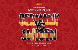 世界杯俄罗斯2018年Grup f瑞典对德国 免版税库存照片