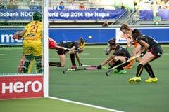 世界杯曲棍球:荷兰-比利时 库存照片