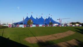 世界杯橄榄球赛2015年Fanzone大门罩大帐篷2 库存照片