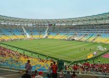 世界杯的新的马拉卡纳体育场2014年 免版税库存照片