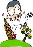 世界杯英国足球运动员 库存例证