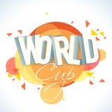 世界杯蟋蟀比赛的海报或横幅设计 免版税图库摄影