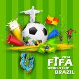 世界杯足球赛背景 库存照片