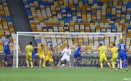 世界杯足球赛2018年合格的比赛乌克兰v冰岛 库存照片