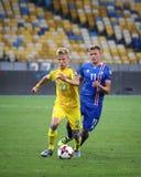 世界杯足球赛2018年合格的比赛乌克兰v冰岛 免版税库存照片