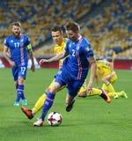 世界杯足球赛2018年合格的比赛乌克兰v冰岛 免版税库存图片